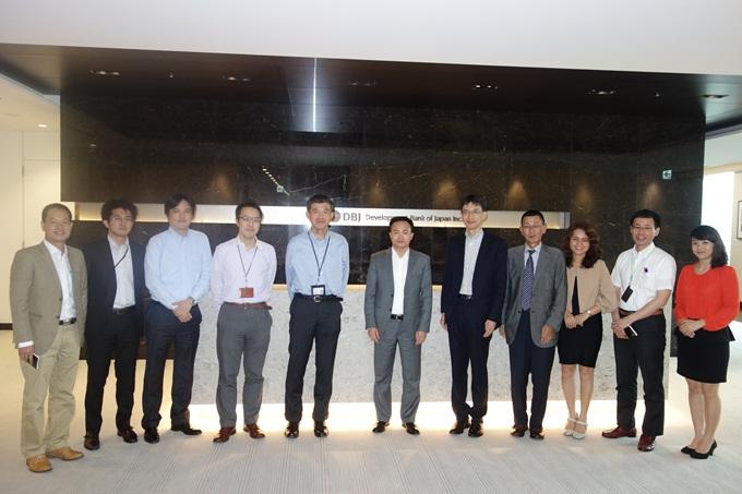 Ban lãnh đạo FECON và DBJ làm việc tại Tokyo, Nhật Bản