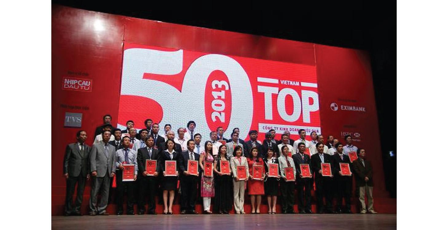 Top 50 Doanh nghiệp kinh doanh hiệu quả nhất Việt Nam năm 2013