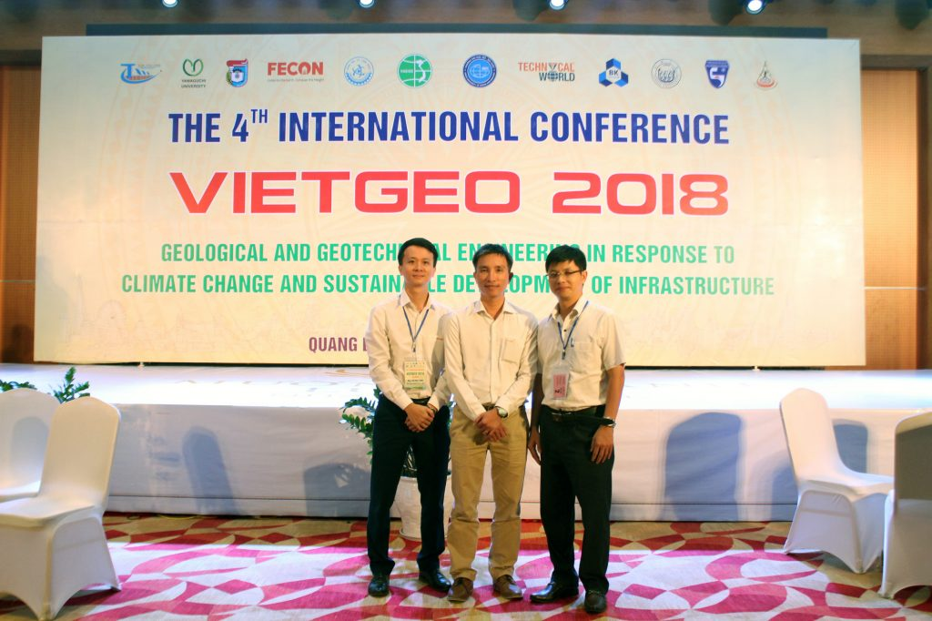 Đại diện FECON tham gia Hội thảo Quốc tế VIETGEO 2018