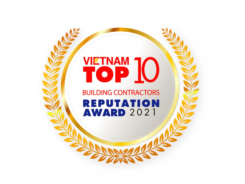 Giải thưởng Top 10 Nhà thầu xây dựng uy tín 2021