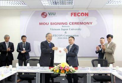 FECON ký hợp tác với VJU, chủ động nâng cao chất lượng nguồn nhân lực