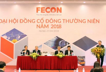 ĐHĐCĐ FECON 2018: Kế hoạch lãi tăng trên 50% trong năm 2018, đàm phán chào bán riêng lẻ giá 30.000 đồng/cp