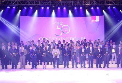 """FECON lần thứ 4 lọt """"Top 50 công ty kinh doanh hiệu quả nhất Việt Nam"""""""