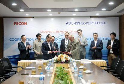 FECON ký kết hợp tác với MINSKMETROPROJEKT về công trình ngầm, gia tăng cơ hội tiếp cận các nhà đầu tư Belarus