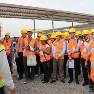 Các nhà khoa học thăm quan Công trường trước Hội thảo GEOTEC 2019