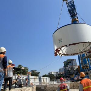 Cận cảnh lắp ráp robot đào hầm 'khủng' nặng 850 tấn thi công Metro Nhổn - ga Hà Nội