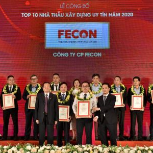 FECON lần thứ 3 liên tiếp lọt Top 10 nhà thầu xây dựng uy tín