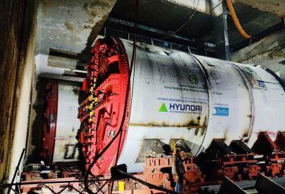 Robot đào hầm tuyến đường sắt đô thị số 3, đoạn Nhổn - ga Hà Nội được lắp ráp như thế nào?