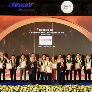 FECON tăng 4 bậc trên bảng xếp hạng Top 10 nhà thầu xây dựng uy tín năm 2021
