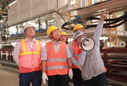 Thứ trưởng Bộ Lao động thương binh và xã hội tới thăm Dự án Metro Line 3 Hà Nội