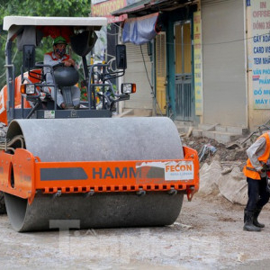 Key traffic project of Hanoi constructed during the epidemic period