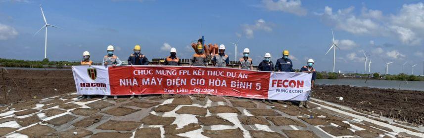 FPL cán đích đúng hẹn Dự án Nhà máy điện gió Hòa Bình 5 giữa bão dịch Covid-19