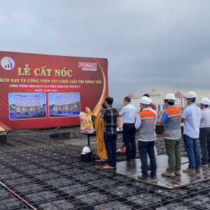 FPL held the topping out ceremony of the Hong Yun Hotel and Amusement Park project