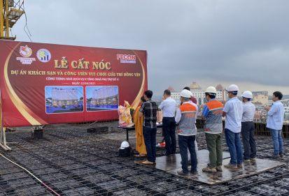 FPL tổ chức lễ cất nóc dự án Khách sạn và công viên vui chơi giải trí Hồng Vận