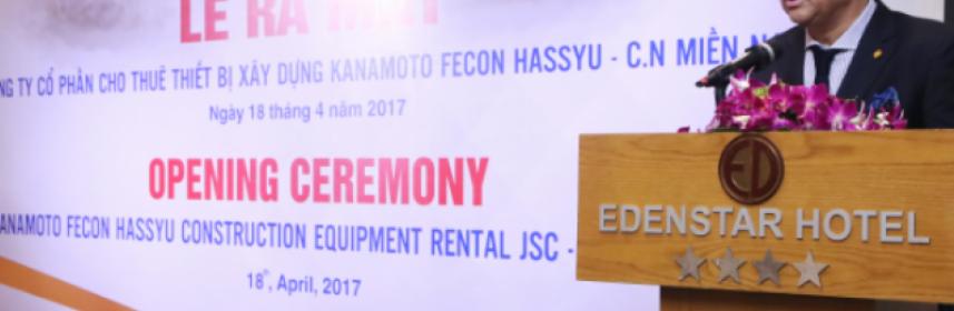 [http://vietstock.vn/] FCN: Kanamoto FECON Hassyu ra mắt chi nhánh miền Nam