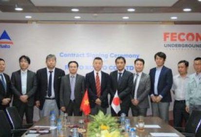 FECON – RAITO Nhật Bản ký kết hợp đồng thi công công trình ngầm