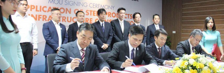 FECON ký kết hợp tác với Nippon Steel về ứng dụng công nghệ thép Nhật Bản vào các công trình hạ tầng