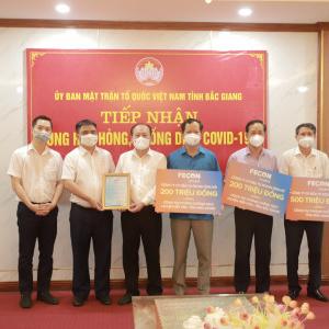 FECON ủng hộ 900 triệu đồng cùng Bắc Giang chống dịch